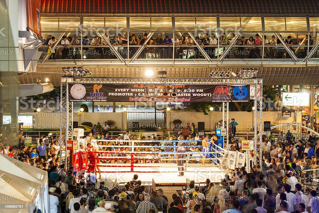 Muay Thai Boxing, MBK, Bangkok, Thailand stock photo