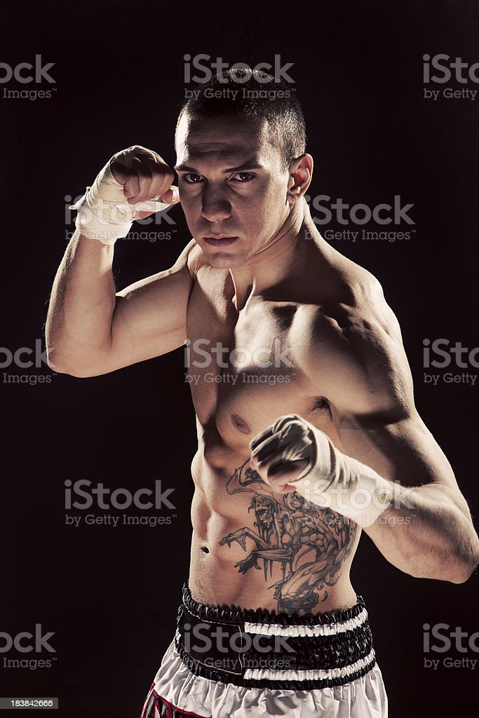 Muay Thai Fighter royalty-free stock photo