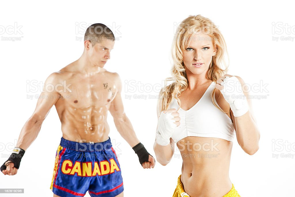 Muay Thai Fighters royalty-free stock photo
