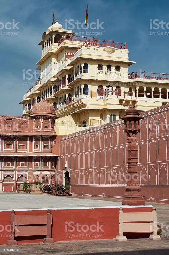 Mubarak Mahal in Jaipur City Palace, Rajasthan, India. stock photo