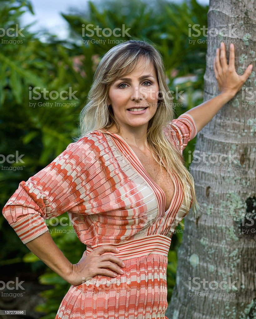 Much better at her forties royalty-free stock photo