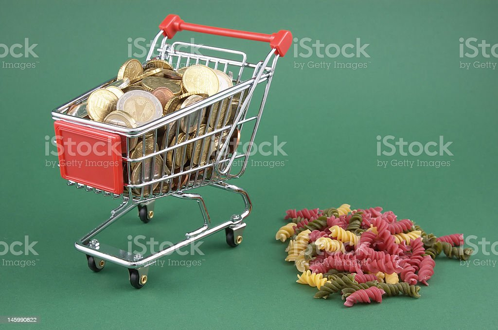 much money for few food royalty-free stock photo