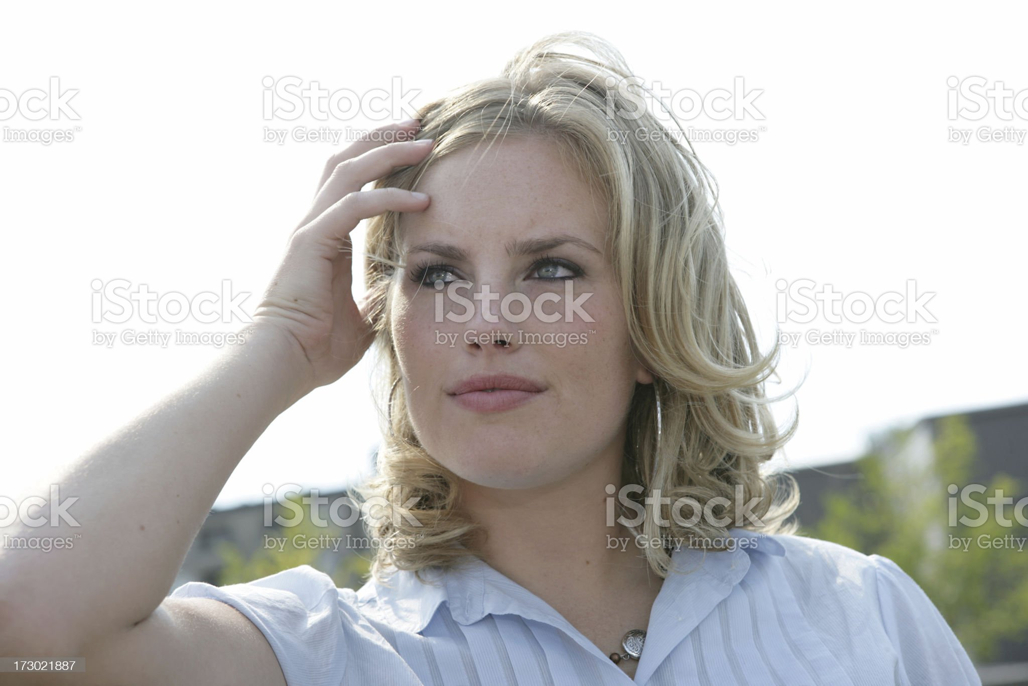 Much On Her Mind royalty-free stock photo