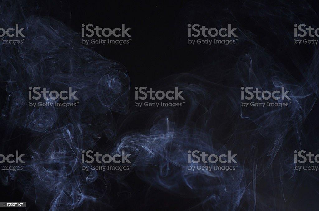 much smoke on black stock photo