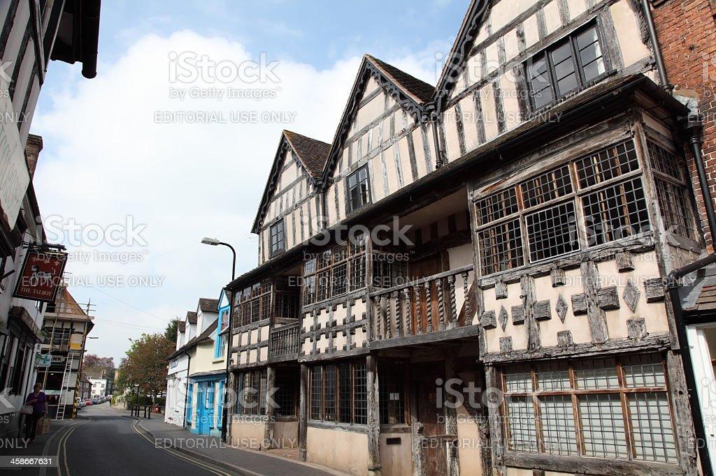 Much Wenlock High Street stock photo