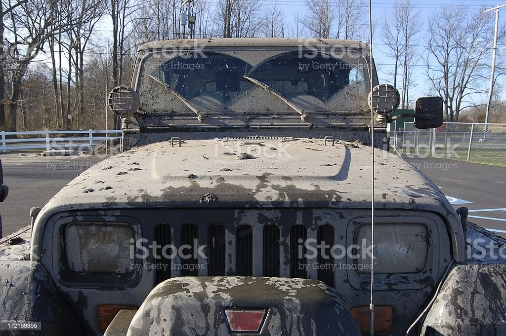 Mud Covered Jeep royalty-free stock photo