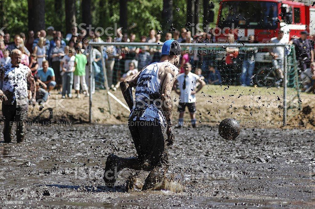 Mud football stock photo