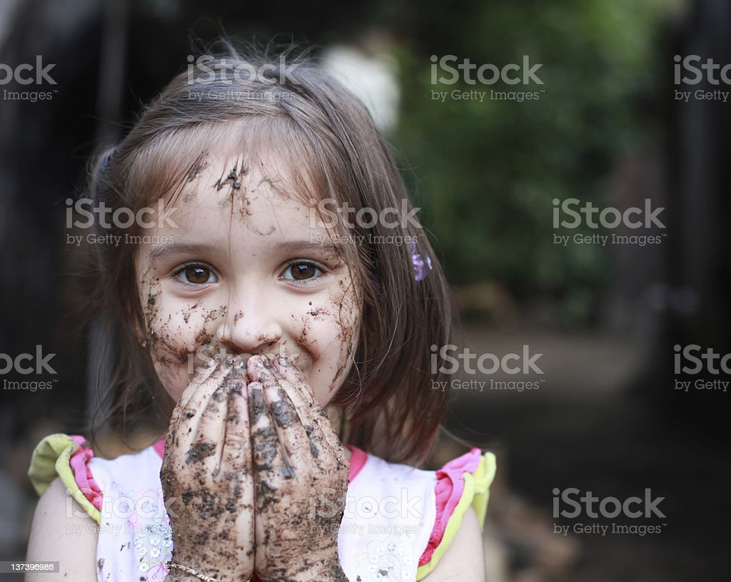 Mud Girl stock photo