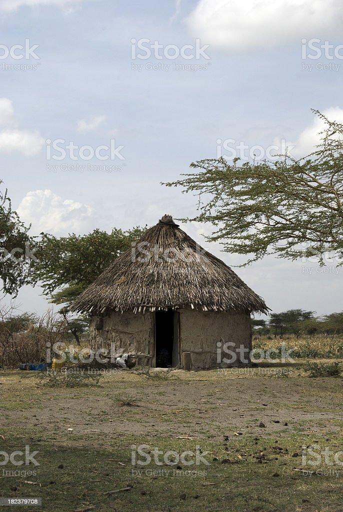 Mud Hut royalty-free stock photo