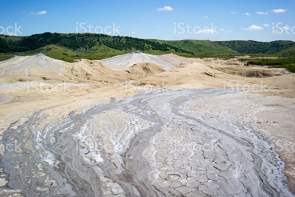 Mud river stock photo