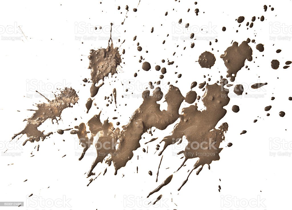 mud splatter stock photo