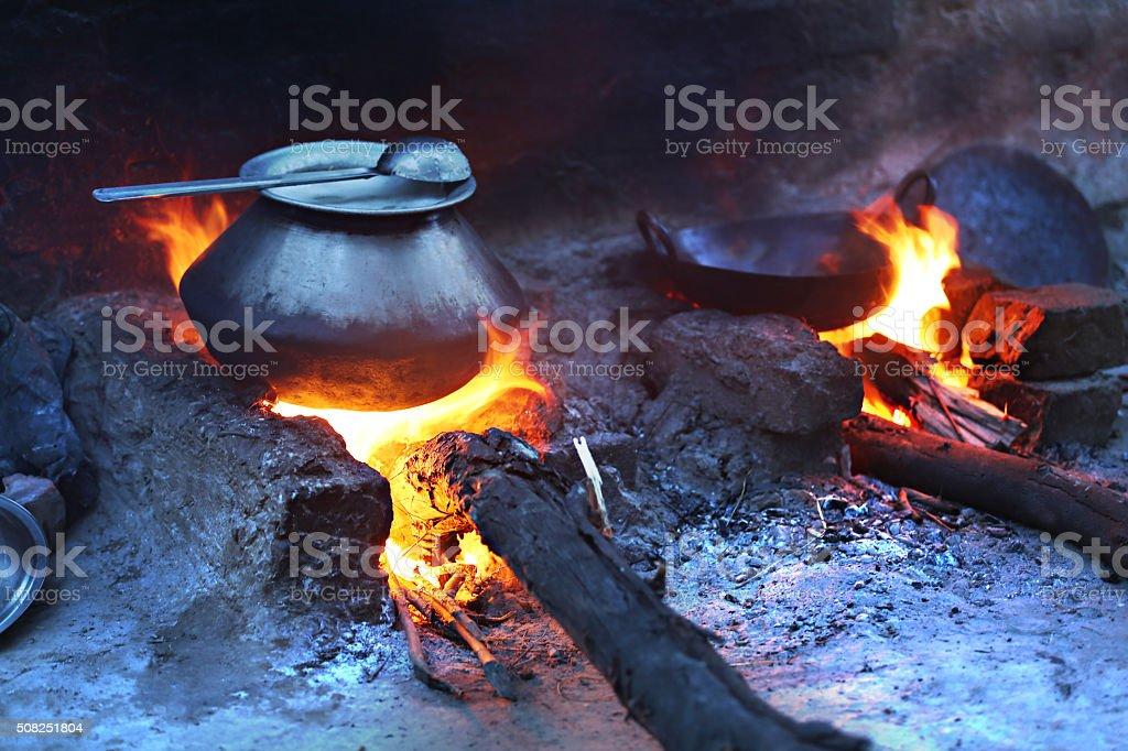 Mud Stove (Preparing Food) stock photo