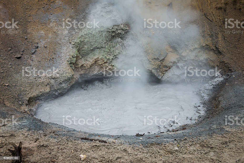 Mud Volcano stock photo