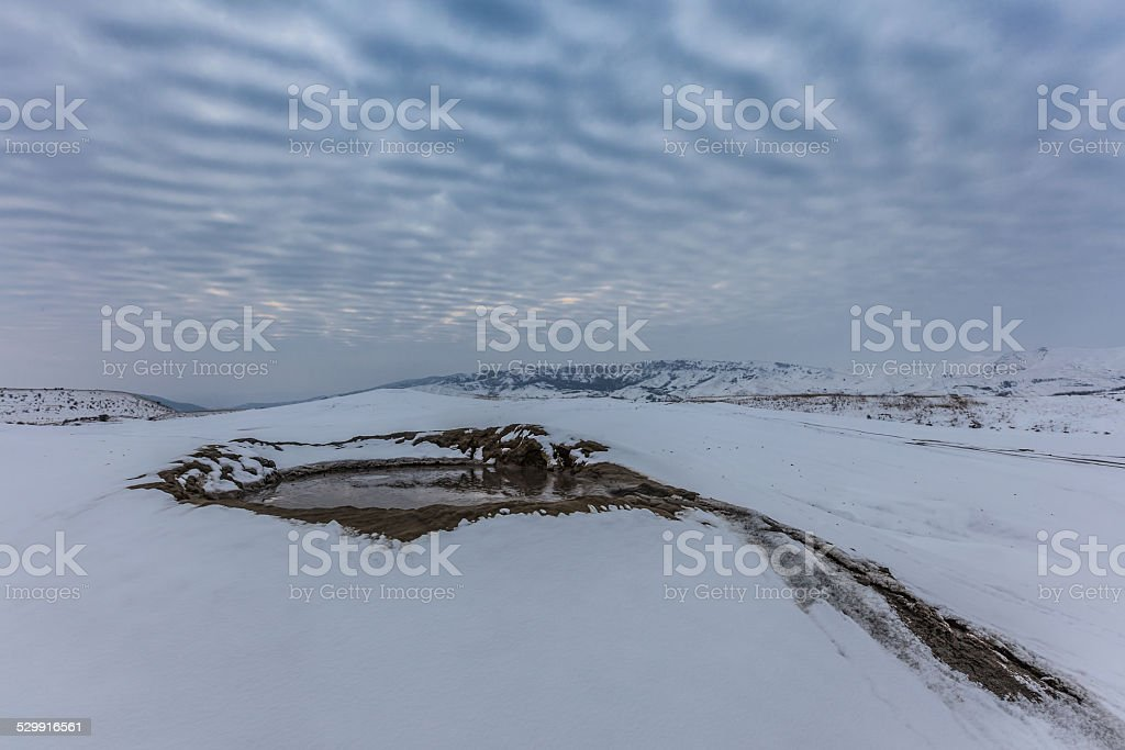 Mud Volcanoes in Buzau, Romania stock photo