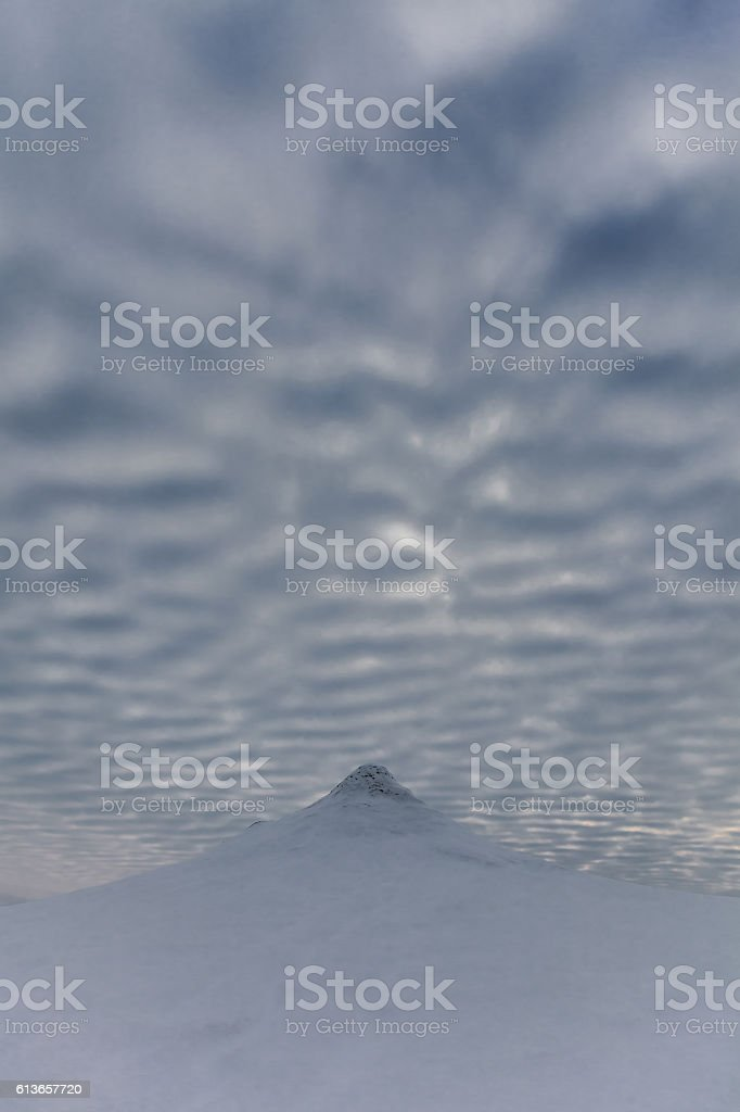 Mud Volcanoes in winter stock photo
