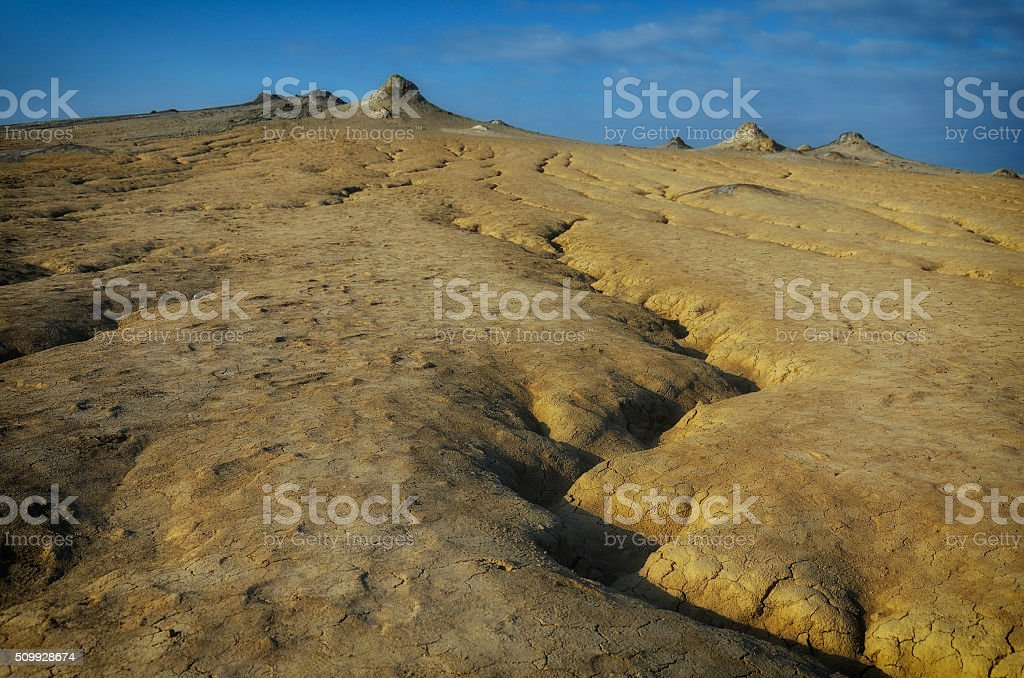 Mud Volcanoes. Location: Buzau Romania stock photo