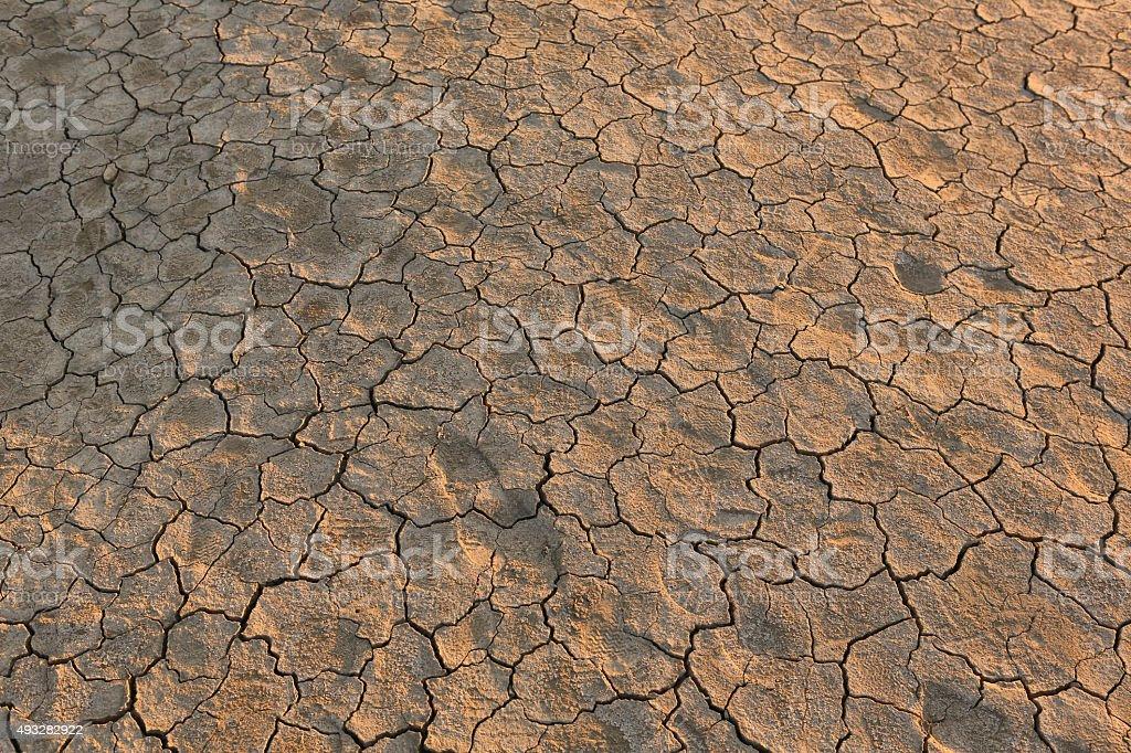 Mud vulcano surface stock photo