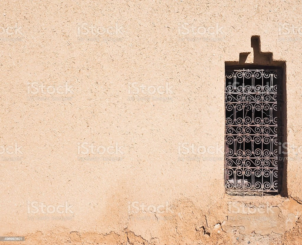 Mud wall in Morocco royalty-free stock photo