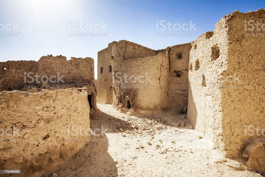 Mud-brick houses in Shali - Siwa Oasis stock photo