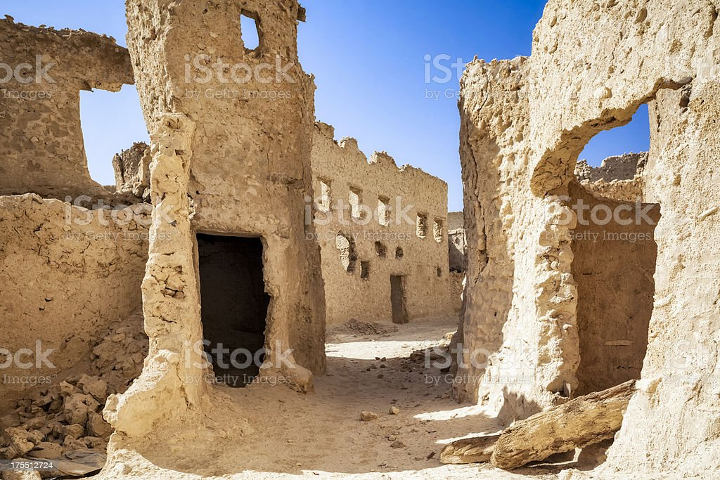 Mud-brick houses in Siwa Oasis stock photo