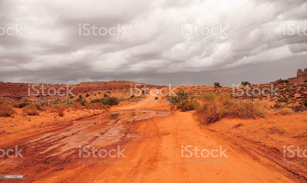 mudden road royalty-free stock photo