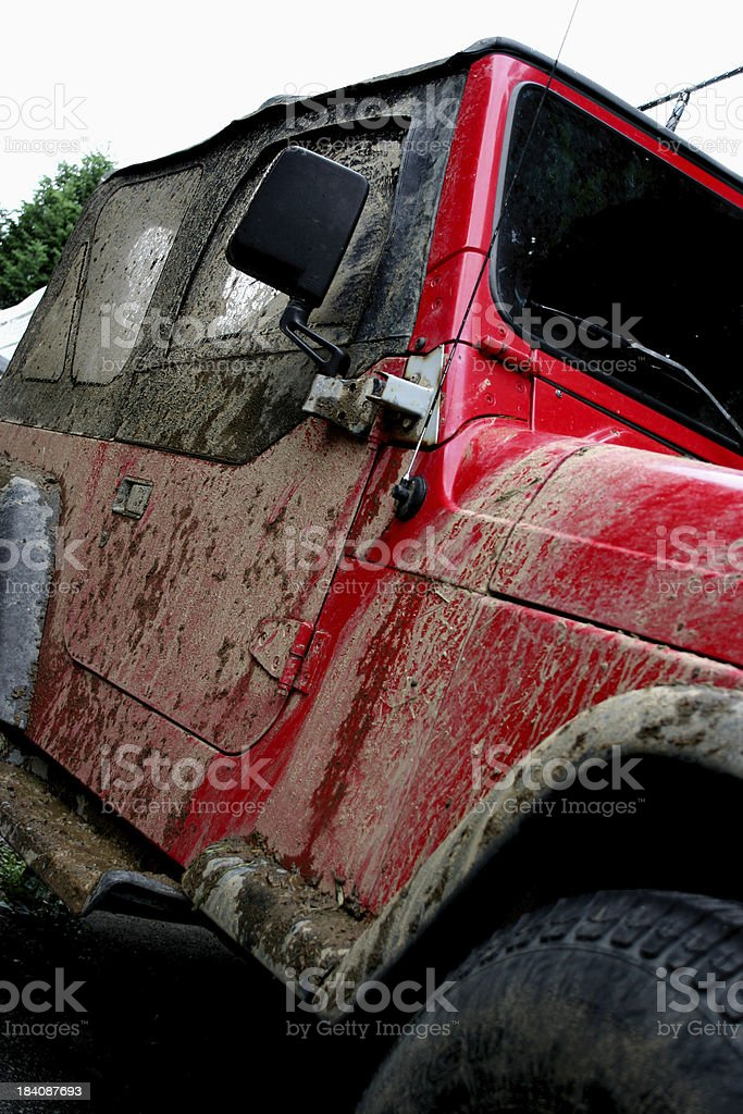 Muddy 4x4 stock photo