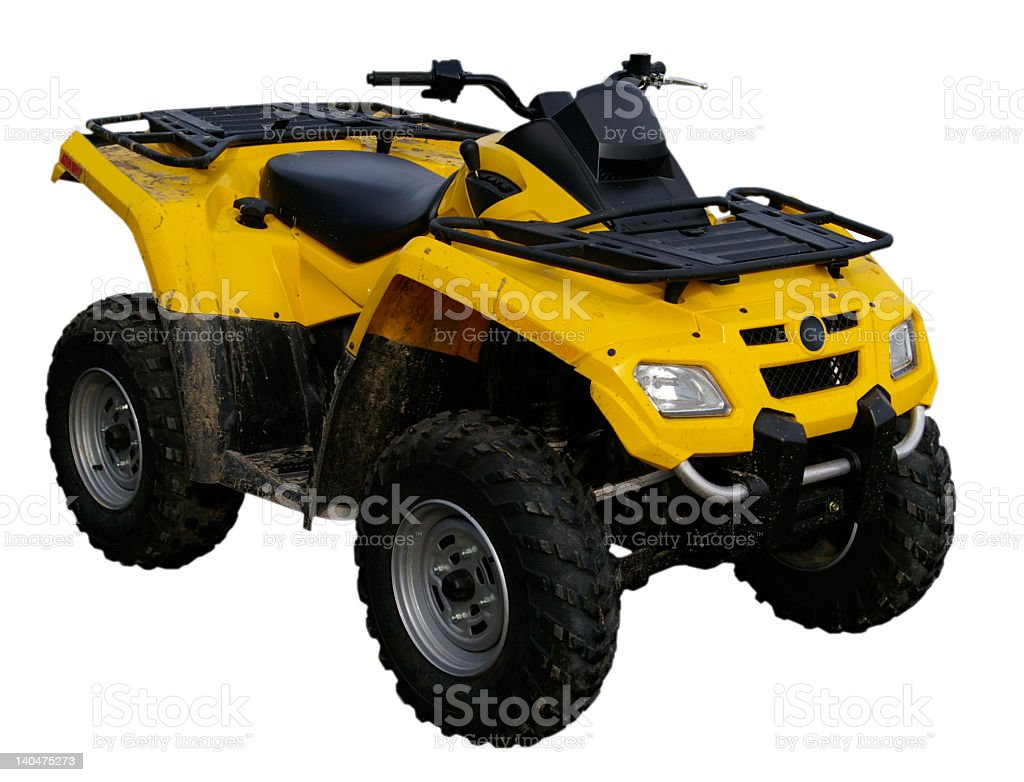 Muddy ATV stock photo
