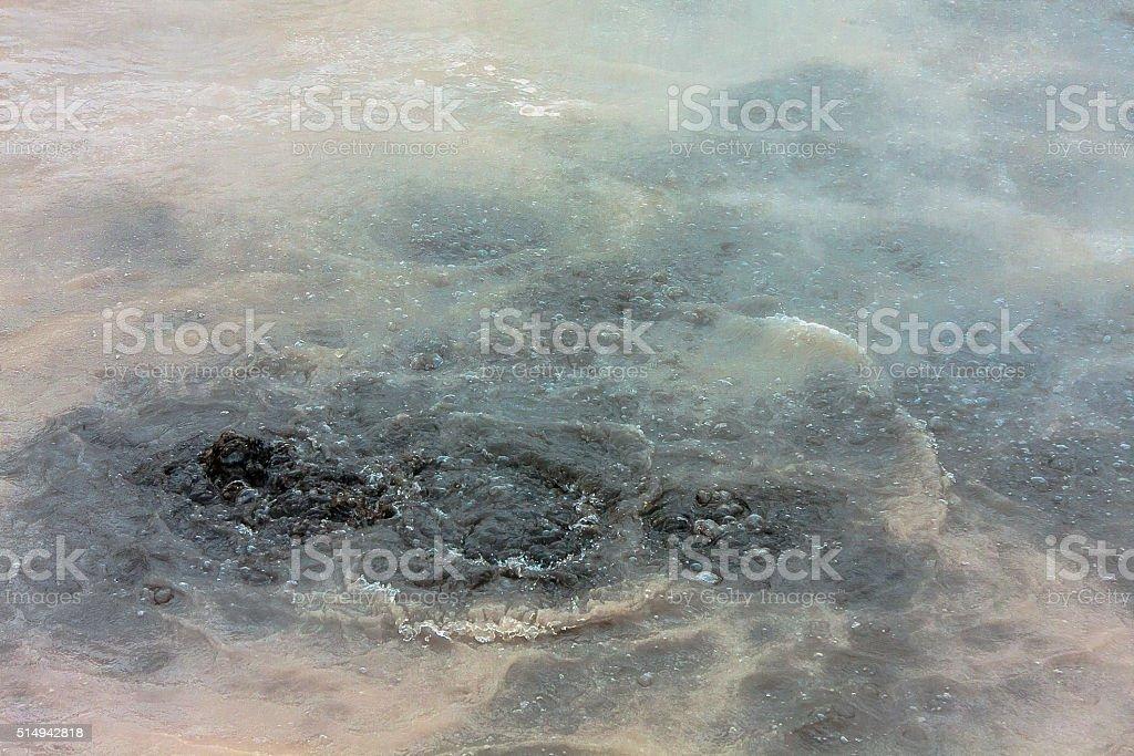 Muddy Boiling Water stock photo
