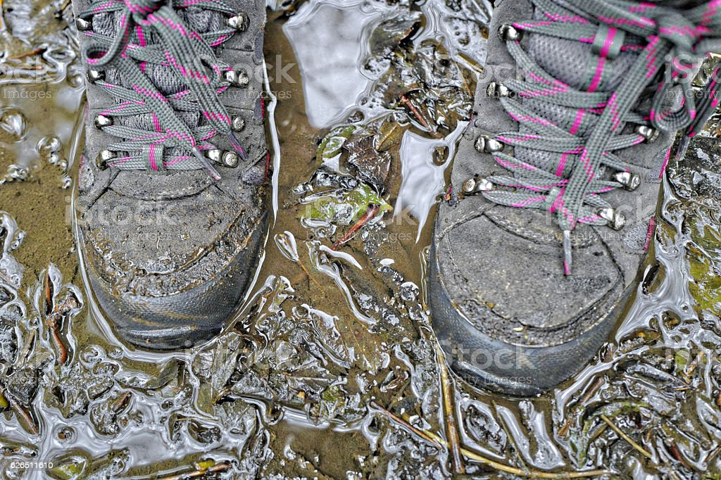 Muddy Boots. stock photo