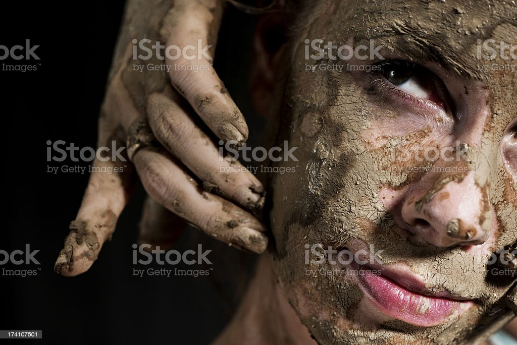 Muddy Ceramic artist royalty-free stock photo