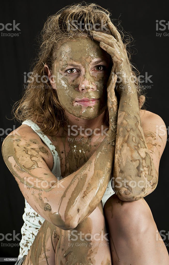 Muddy Ceramic artist royalty-free stock photo