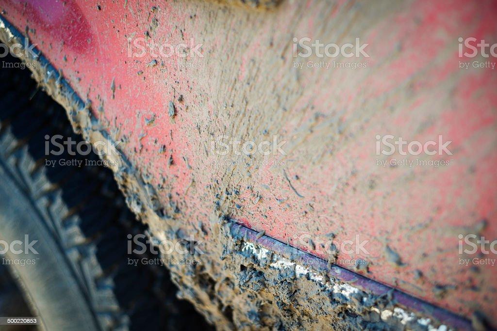 Muddy Fender stock photo