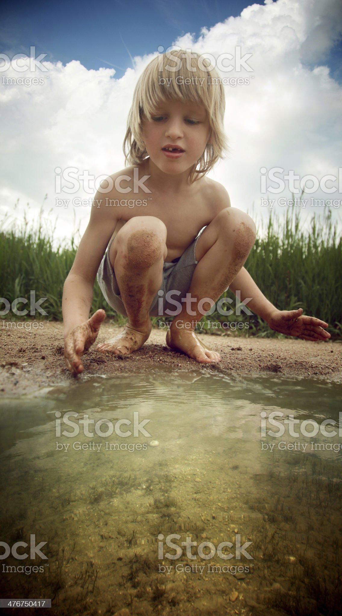 Muddy fun royalty-free stock photo