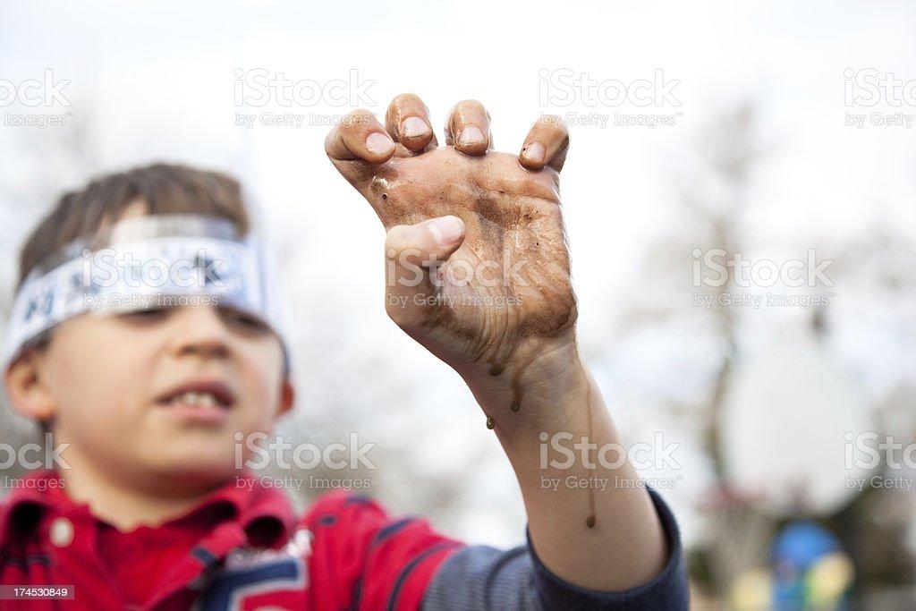 Muddy Hand royalty-free stock photo