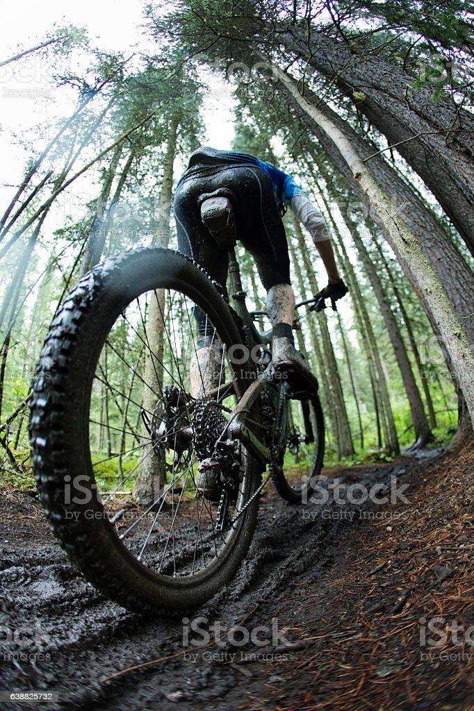 Muddy Mountain Bike Race stock photo