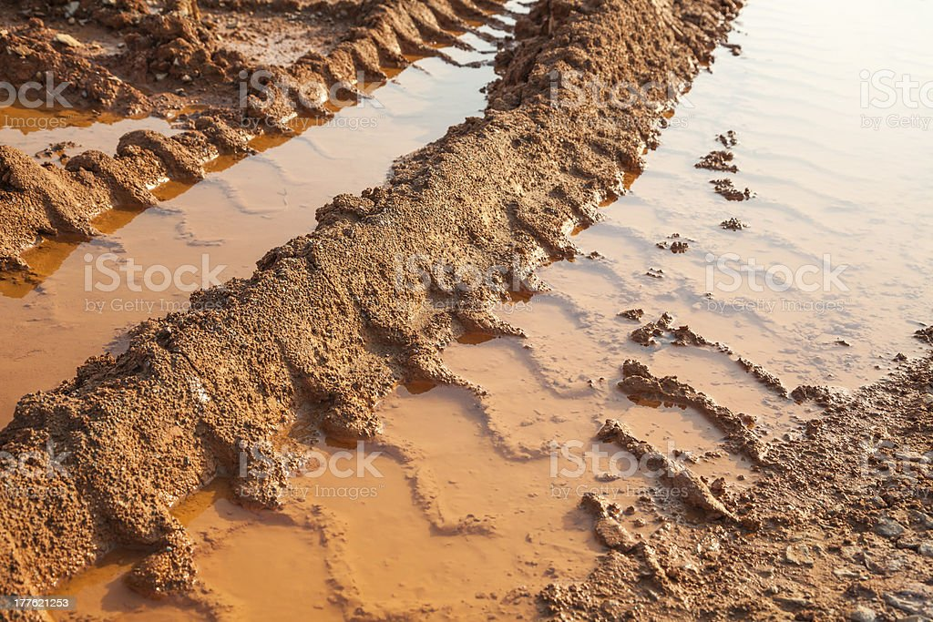 muddy road royalty-free stock photo
