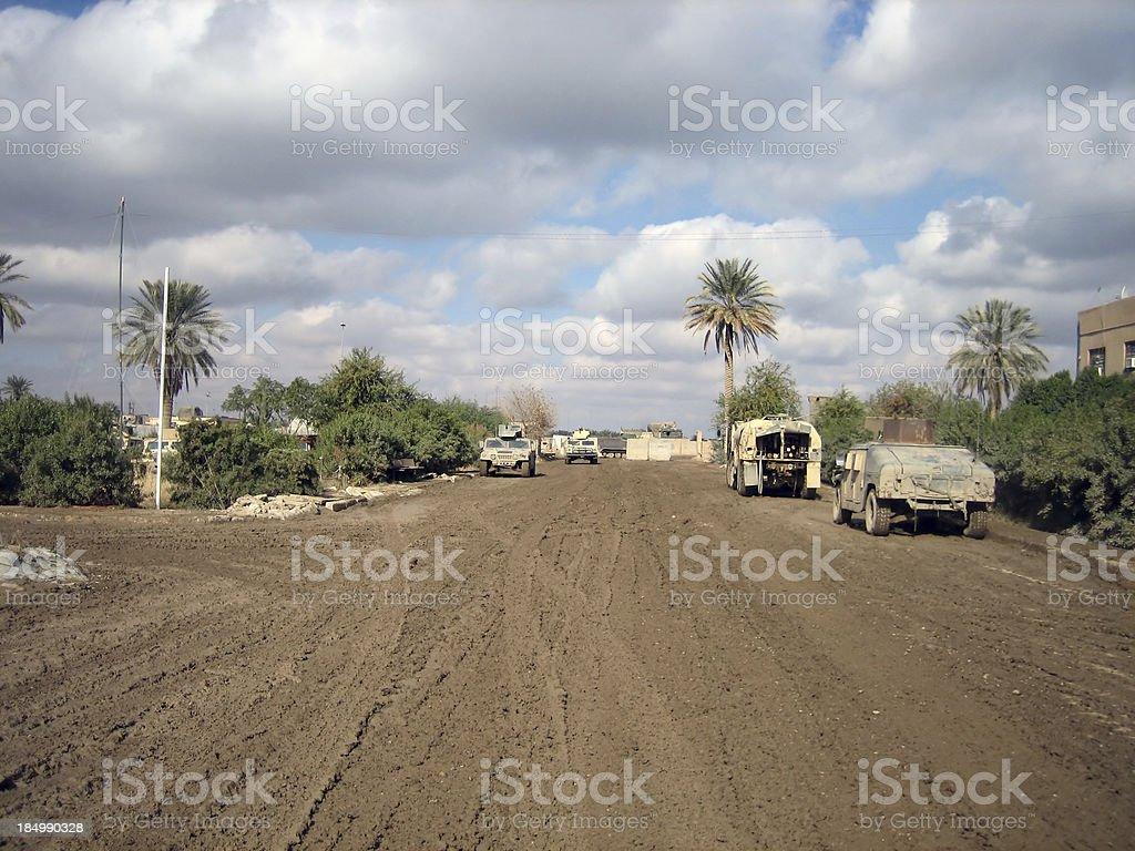Muddy Road stock photo