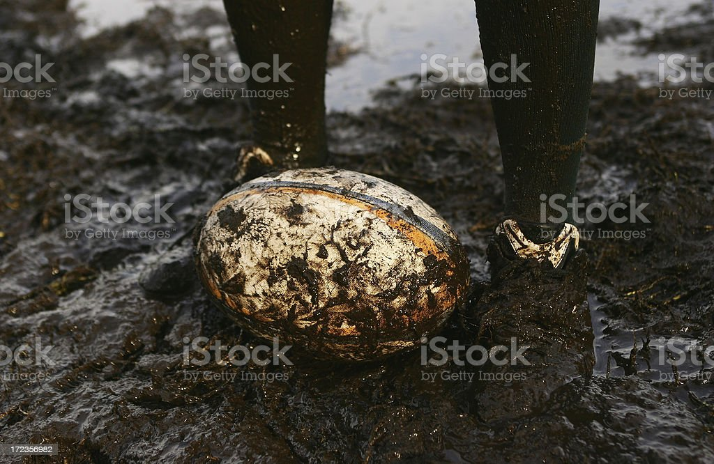 Muddy Rugby royalty-free stock photo
