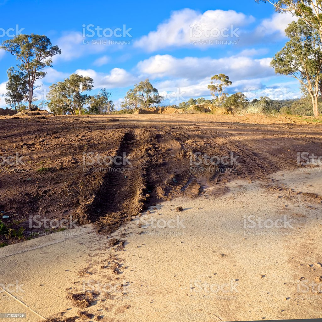 muddy track in australia royalty-free stock photo