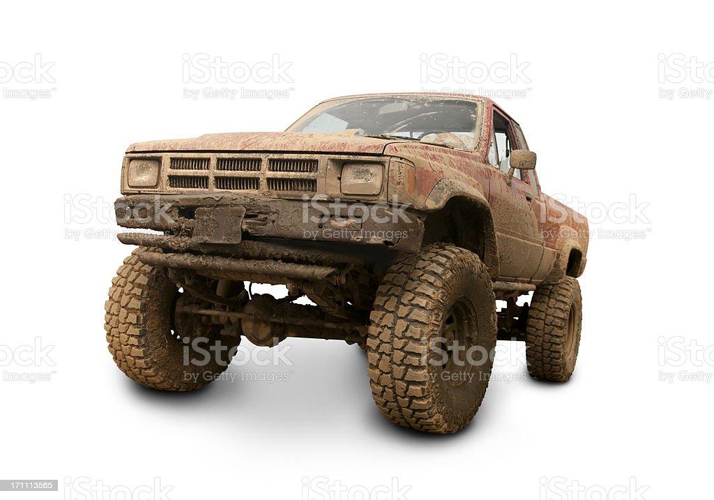 Muddy Truck stock photo