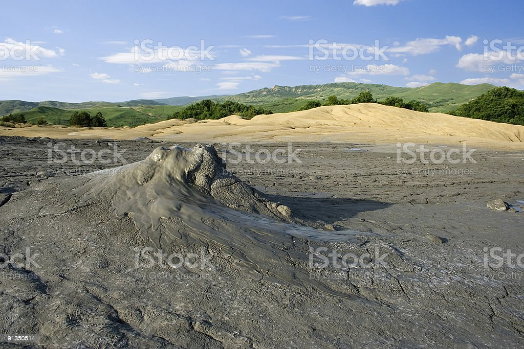 Muddy volcano royalty-free stock photo