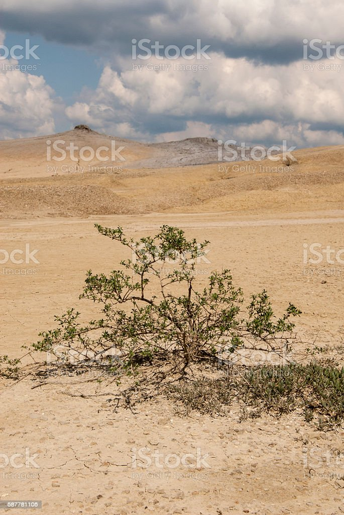 Muddy Volcanoes Reservation in Romania - Buzau - Berca stock photo