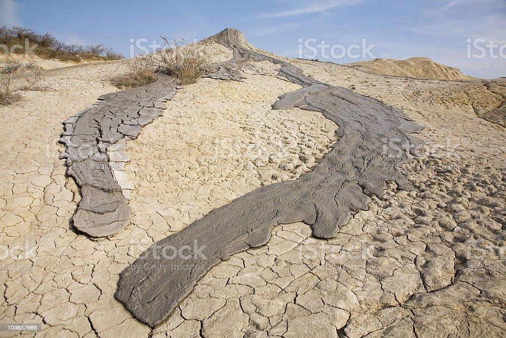 Muddy volcanos in Romania royalty-free stock photo