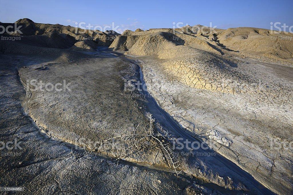 Muddy Vulcans - Buzau, Romania royalty-free stock photo