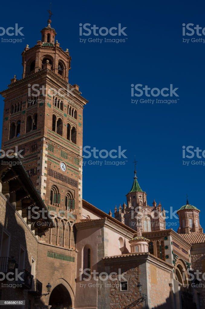 Mudejar Cathedral of Santa Maria de Mediavilla (13th century), stock photo