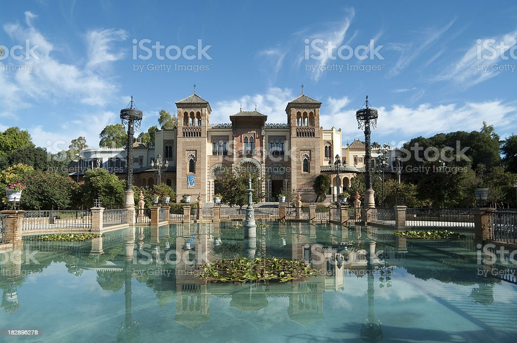 Mudejar pavilion in Seville 1929 Expo Pabellon stock photo