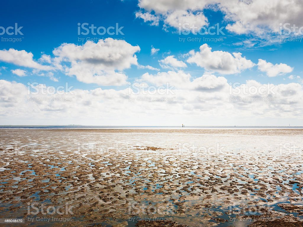 Mudflat stock photo
