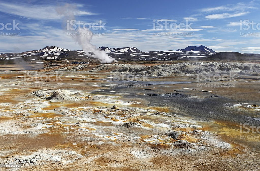 Mudpot in the geothermal area Hverir, Iceland royalty-free stock photo