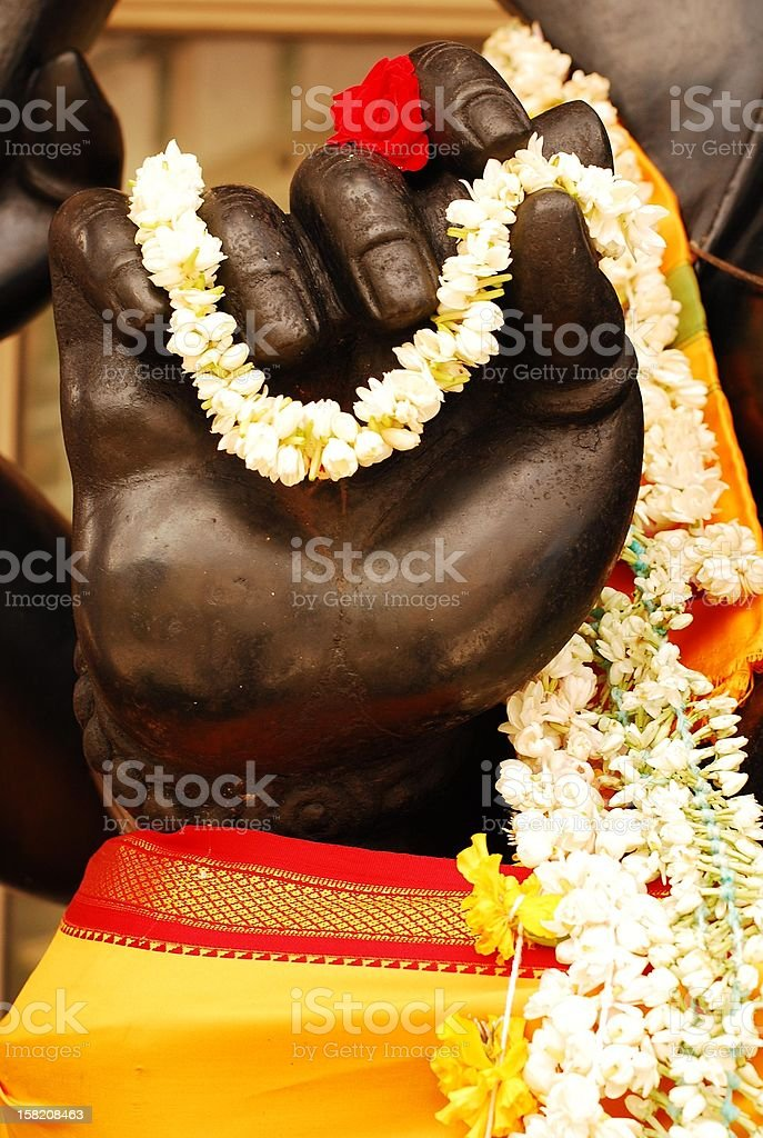 Mudra of Ganesh stock photo