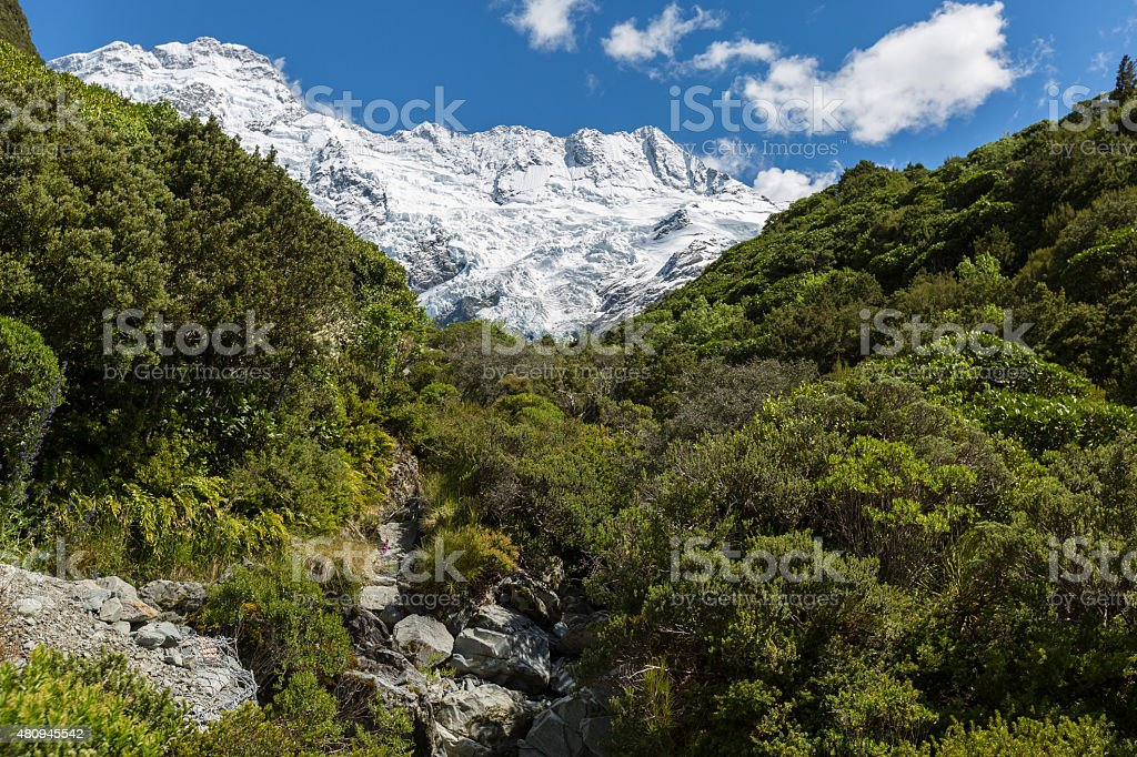 Mueller Hut Route New Zealand stock photo
